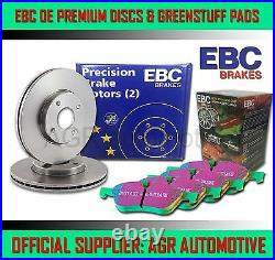 EBC FRONT DISCS AND GREENSTUFF PADS 332mm FOR BMW X3 3.0 TWIN TD 35D E83 2006-10