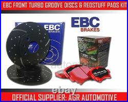 EBC FRONT GD DISCS REDSTUFF PADS 348mm FOR BMW 335 3.0 TWIN TURBO (E90) 2010-12