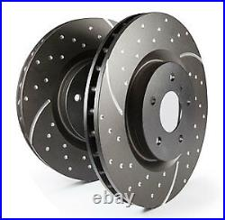 EBC Turbo Grooved Rear Vented Brake Discs BMW X6 E71 3.0 Twin TD 40d 10 14