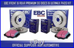 Ebc Front + Rear Discs And Pads For Bmw X5 3.0 Twin Td (e70)(40d) 2010-13