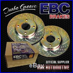 Ebc Turbo Groove Front Discs Gd1512 For Bmw 335 Xdrive 3.0 Twin Turbo 2008-12